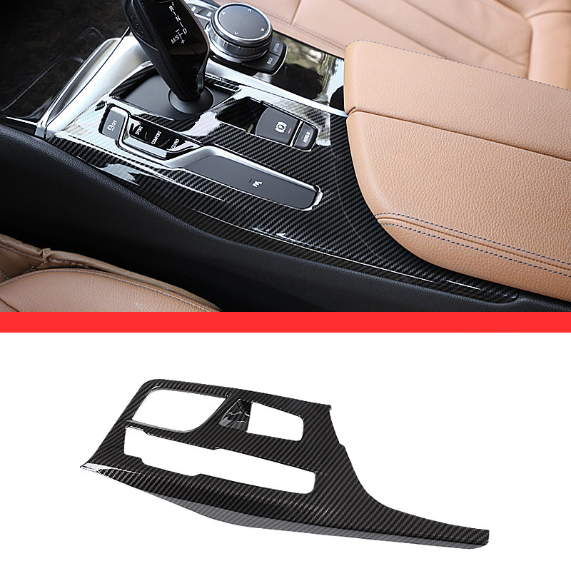 Carbon fiber Style For BMW NEW 5 Series G30 2017 2018 ABS Plastic Center Console Gear Shift Panel Cover Trim Car Accessories 1PC abs carbon style decoration gear shift box panel cover trim car styling accessories for mazda cx 5 cx5 2nd gen 2017 2018