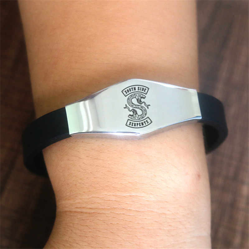 fashion Riverdale bracelet south side serpents badge Adjustable silicone Bangle cute simple Jewelry Cute Gifts for men