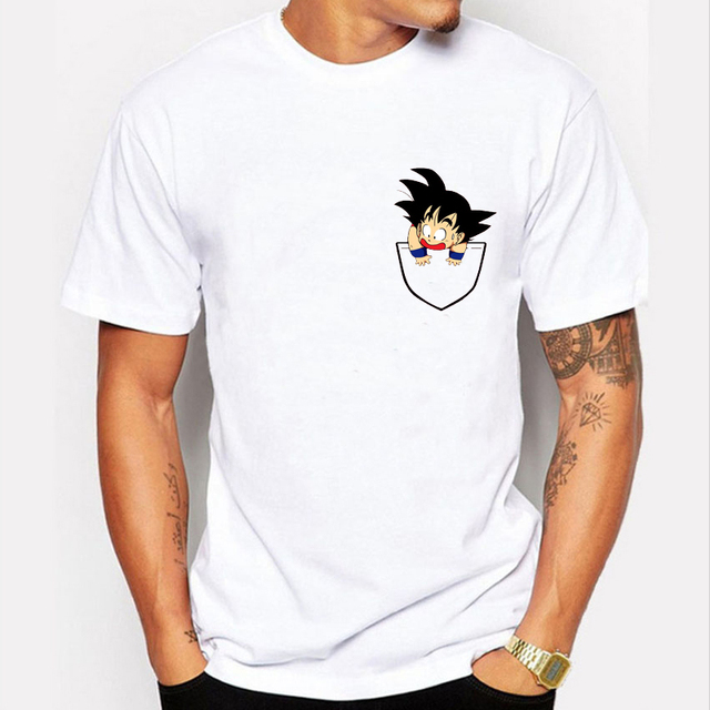 cfc3b9789ec57 Brand T Shirt 2016 Funny Baby Son Goku Inside Your Pocket Tee Shirts Homme  Fashion Creative