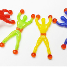 10X Sticky Man Wallman Toys Mixed Colors Vending New for kids Boys Pinata Birthd