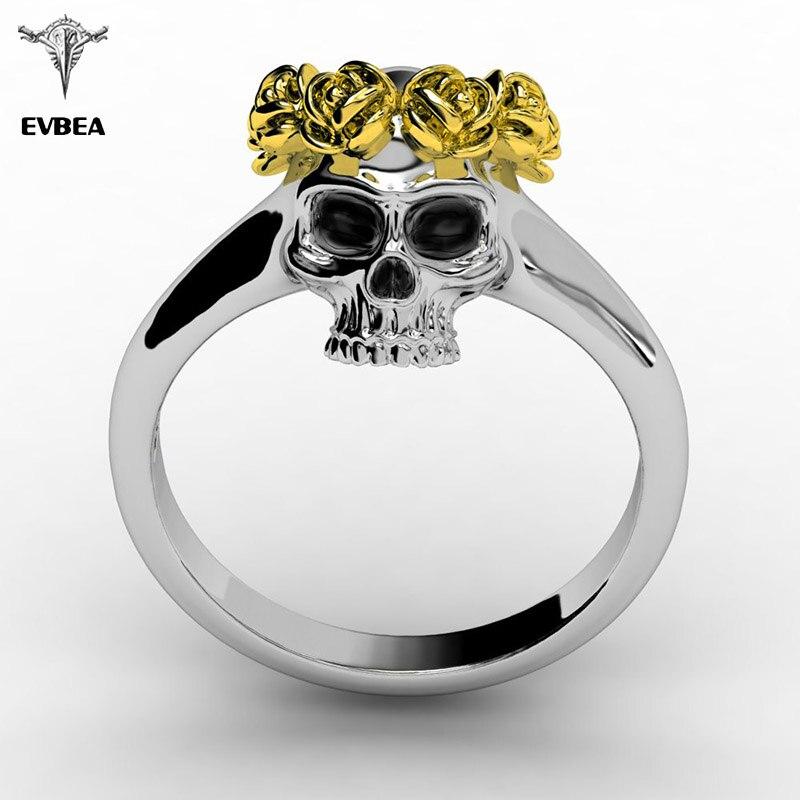EVBEA Skull Ring Vintage Wedding Rings For Women Fashion