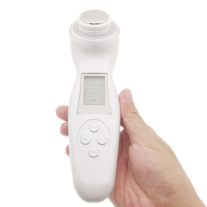 5 in 1 Vibration Massage Photon Acne Therapy Ultrasonic Galvanic Ion Face Cleansing Skin Whitening Tightening Beauty Machine5 in 1 Vibration Massage Photon Acne Therapy Ultrasonic Galvanic Ion Face Cleansing Skin Whitening Tightening Beauty Machine