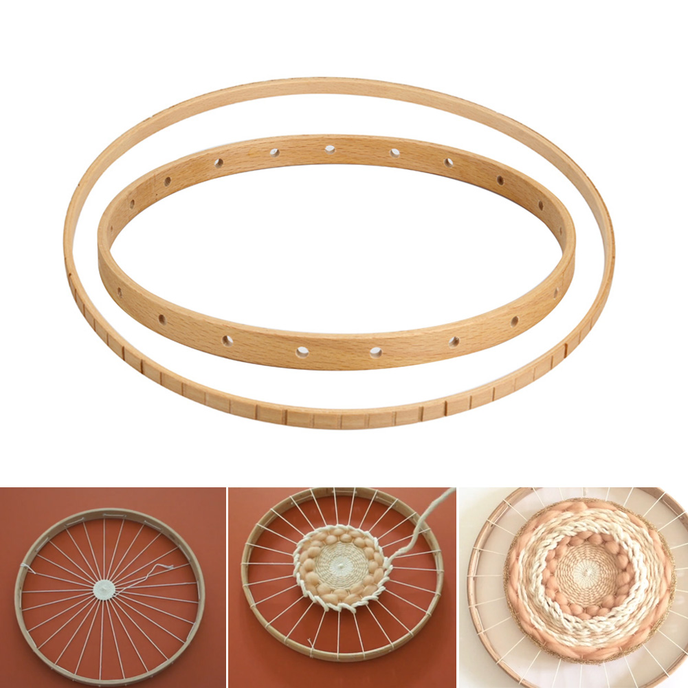 Round Wooden Knitting Loom Craft DIY Weaving Tools For DIY Handmade Wall Hangings Household Tool Can CSV