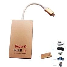 USB 3.0 Type-C USB-C Multiple USB HUB & TF SD Card Reader Adapter HDMI 60Hz Multi Function Combo Hub QJY99