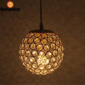 Image 3 - E27 Modern Nice Pendant Lights Gold/Silver Pendant Light,Round Ball Crystal D15CM Pendant Lamps For Living Room Bed Room(DN 65)