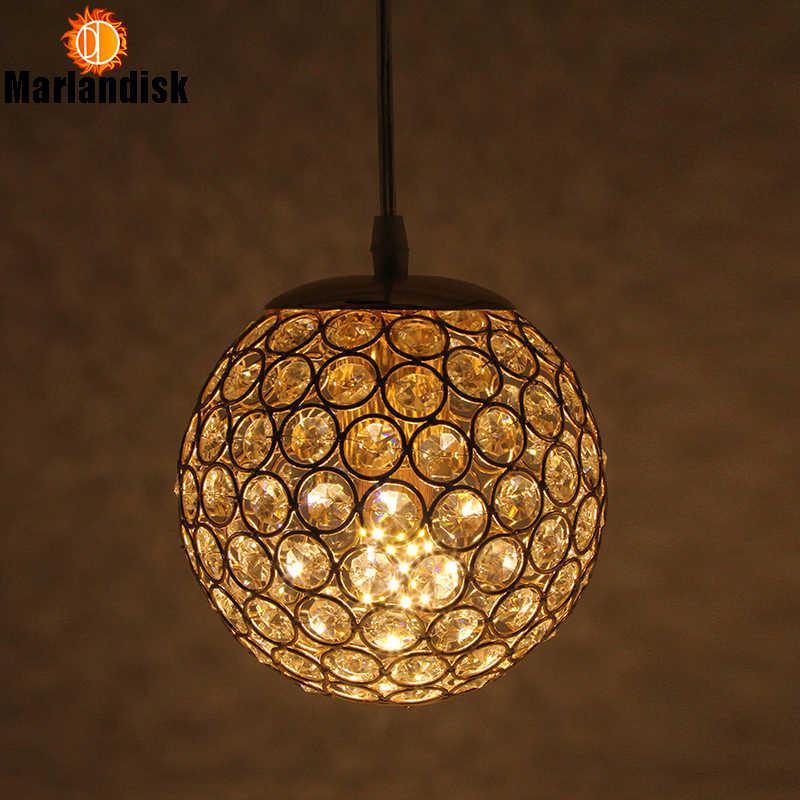 E27 современный красивый кулон свет Золотой/Серебряный кулон свет, круглый шар с украшением в виде кристаллов D15CM подвесные светильники для Гостиная номер (DN-65)