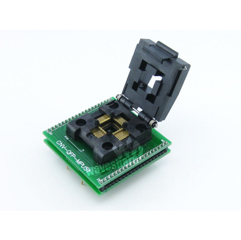 ФОТО Yamaichi IC Programming Adapter, especially for 8051 TQFP44/QFP44 package 8051 QFP44 TO DIP40 Programming Adapter