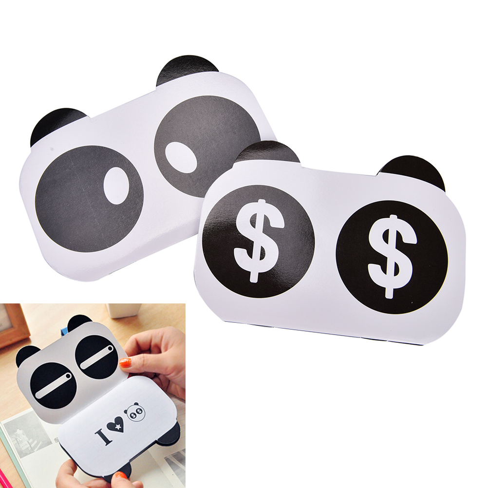 2017 New Kawaii Various Facial Expression Panda Mini Bill Book Notebook Notepad Gift ...