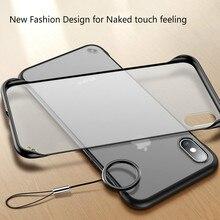 Rahmenlose Transparent Matte Telefon Fall Für iPhone X 7 6 6 S 8 Plus Abdeckung Für iPhone XS Max XR mit Finger Ring Fällen Neue Mode