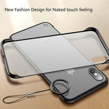 فرملس شفافة ماتي الهاتف حقيبة لهاتف أي فون X 7 6 6 S 8 زائد غطاء ل فون XS ماكس XR مع إصبع حلقة حالات جديد أزياء