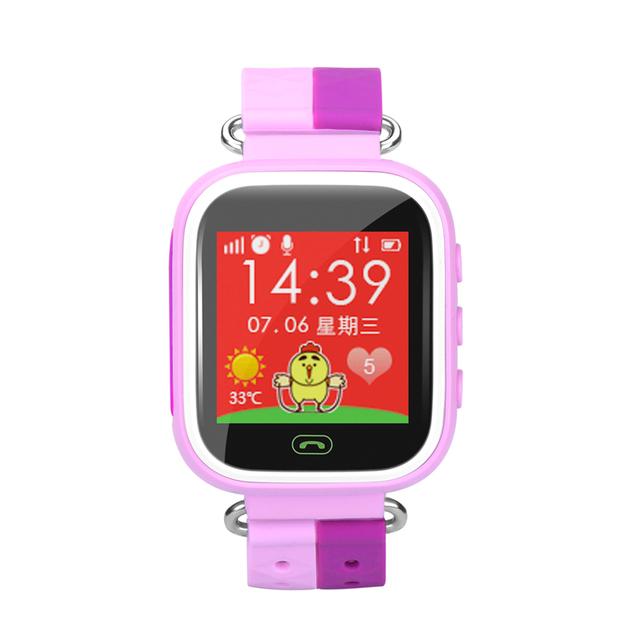 Elegante e colorido da tela de toque inteligente relógios o clima de intercomunicação cor LED crianças esportes homens e mulheres estudantes