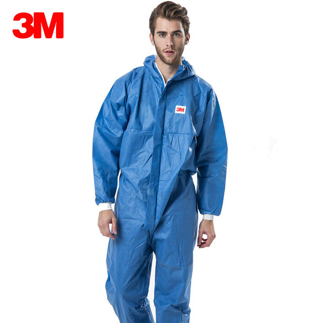 3M Disposable Anti-static Coverall Hooded Cleanroom Garments Dust-proof Work Safety Clothing Anti Paint Protective Overalls
