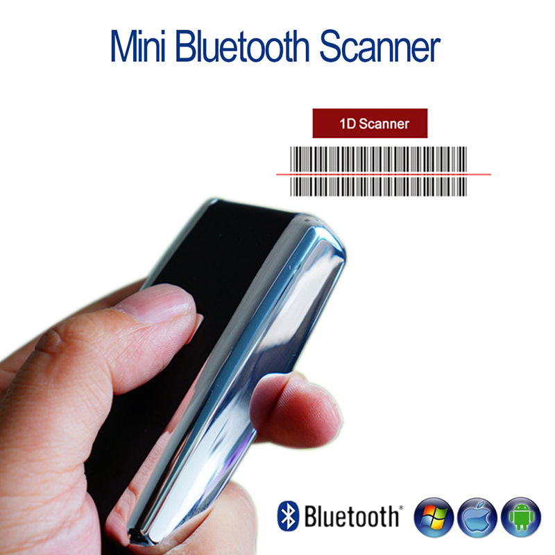Blueskysea QS-S01 1D Wireless Barcode Scanner Bluetooth Laser/CCD Scanner Portable Mini 1D Scanner Wireless For Android IOS wireless barcode scanner bar code reader 2 4g 10m laser barcode scanner wireless wired for windows ce blueskysea free shipping