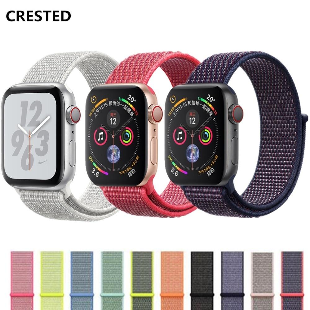 da668c09e66 EIMO Loop de Esporte Para Apple relógio banda 40 4mm 44mm Tecido Nylon strap  correa iwatch