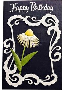 Image 5 - Matrices de découpe en métal artisanal, moule de découpe, 8 pièces décoration florale, Scrapbook, papier artisanal couteau, moule de lame, pochoirs