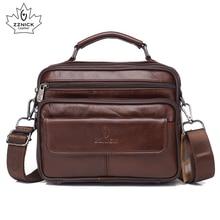 ZZNICK Genuine Leather Bag top handle Men Bags Male Shoulder Crossbody Bags Messenger Small Flap Casual Handbags Men Leather Bag