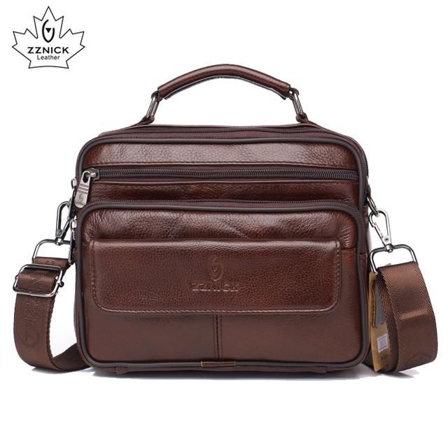 ZZNICK сумка из натуральной кожи мужские сумки с верхними ручками мужские сумки через плечо сумки мессенджеры маленькие повседневные сумки с клапаном мужская кожаная сумка