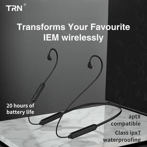 Image 4 - TRN BT3Sไร้สายบลูทูธ4.2 APT XสายIPX7หูฟังกันน้ำสนับสนุนCSR8645ชิปMMCX \ 2PinสำหรับTRN V90 V80 v30 BA5