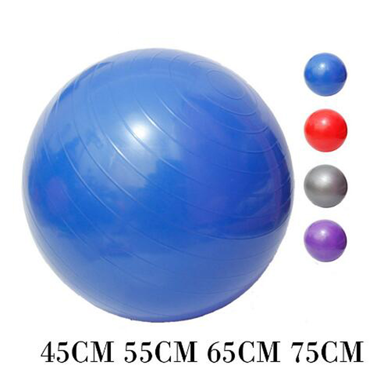 Hongxiang Sports Yoga Balls Bola Pilates Fitness Gym Balance Fitball Exercise Pilates Workout Massage Ball 45cm 55cm 65cm 75cm