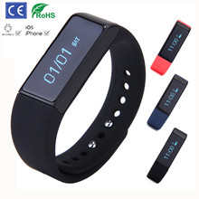 Smart Bracelet Bluetooth Waterproof Fitness Tracker Health Wristband Sleep Monitor Wearable Devicesfor IOS / Android phone PK U8