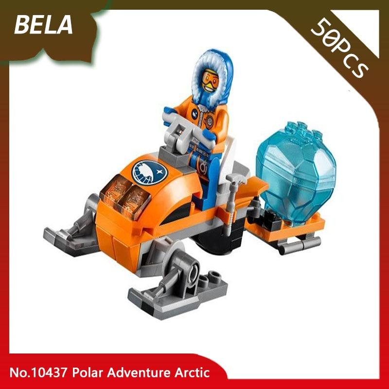 Бела 10437 50 шт. город серии Polar аdventure Arctic Набор строительных блоков кирпичи развивающие игрушки для детей Подарки, совместимые 60032