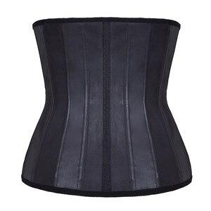 Image 3 - Cintura de látex espartilho 25 pçs aço desossado underbust cintura de borracha cincher