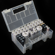 High Quality PP plastic  Large Hard Plastic Battery receive a case toolkit Storage Box For AA AAA 15 x 8.7 5.5cm