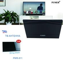 TV antena Interna antena de TV Digital Suporte receptor de tv a Receber UHF para DVB-T2 HDTV DTV VHF Alto Ganho Plana Projeto PUMER