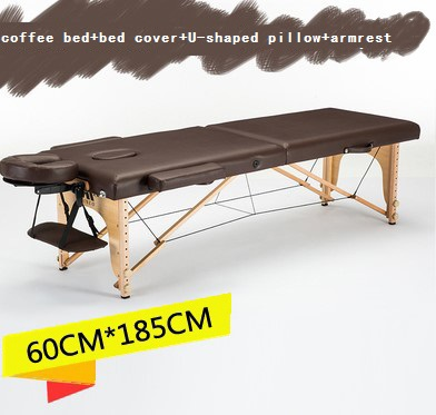 Image 2 - 185cm*60cm bed+bed cover+U shaped pillow+armrest, spa tattoo beauty furniture portable foldable massage bed salon massage table-in Massage Tables from Furniture