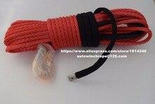 赤 10 ミリメートル * 30 メートル合成ウインチロープ、オフロードロープ、ロープatvウインチ、atvウィンチライン、牽引ロープ