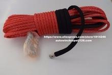 Red cuerda de cabrestante sintético de 10mm * 30m, cuerda de carretera, cuerda para cabrestante ATV, cable de cabrestante ATV, cuerda de remolque