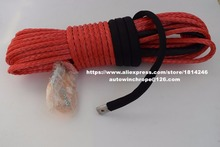 Rood 10Mm * 30M Synthetische Winch Touw, Off Road Touw, Touw Voor Atv Lier, atv Winch Line, Sleepkabel
