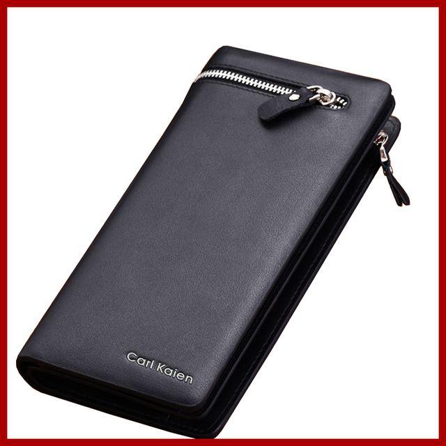54778cdfe3a New Brands Clutch Bag Men Wallets Black Brown Luxury Large Capacity Gift  for Male Double Zipper Long Wallet Handbag Purse