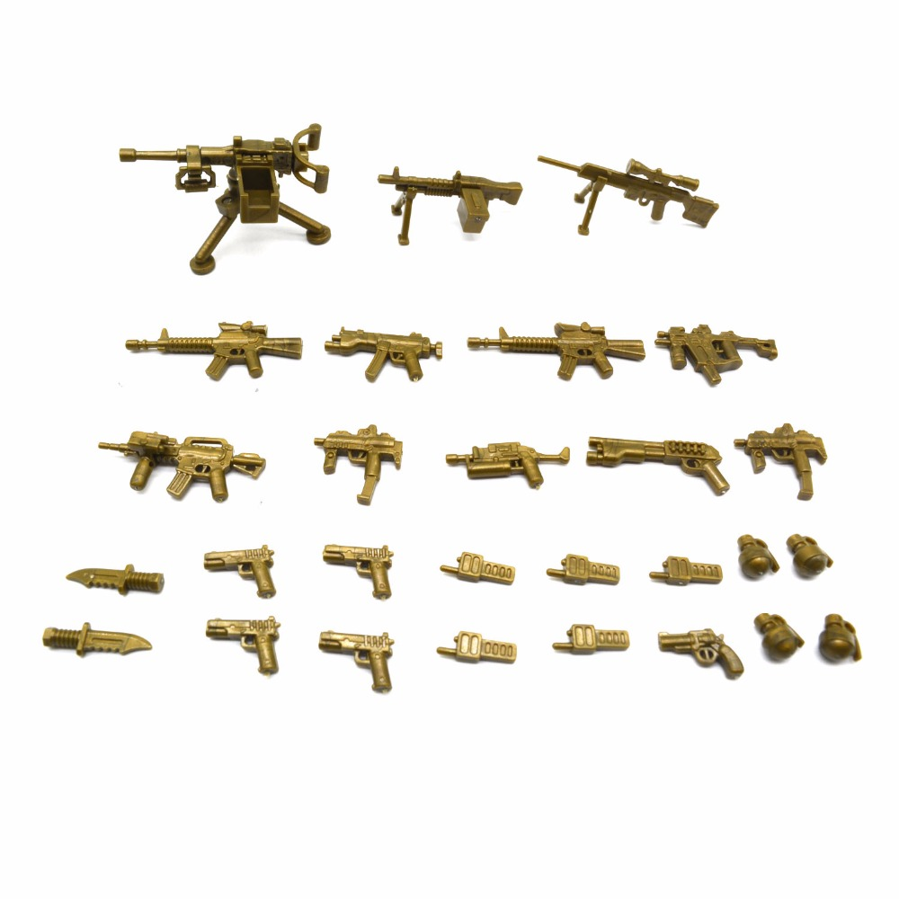 Koolfigure Weapons Pack for Building Brick Figures,Guns and Artillery Accessories for Mi ...