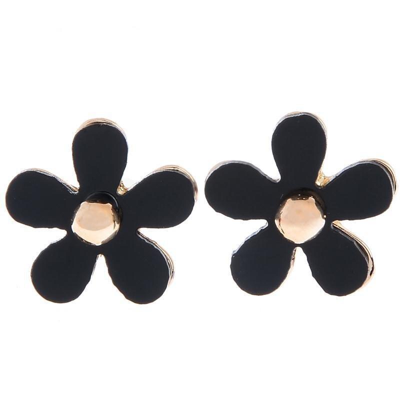 Boucles d`Oreilles Clous Léopard Cristal Noir Rétro Vente En Gros G2