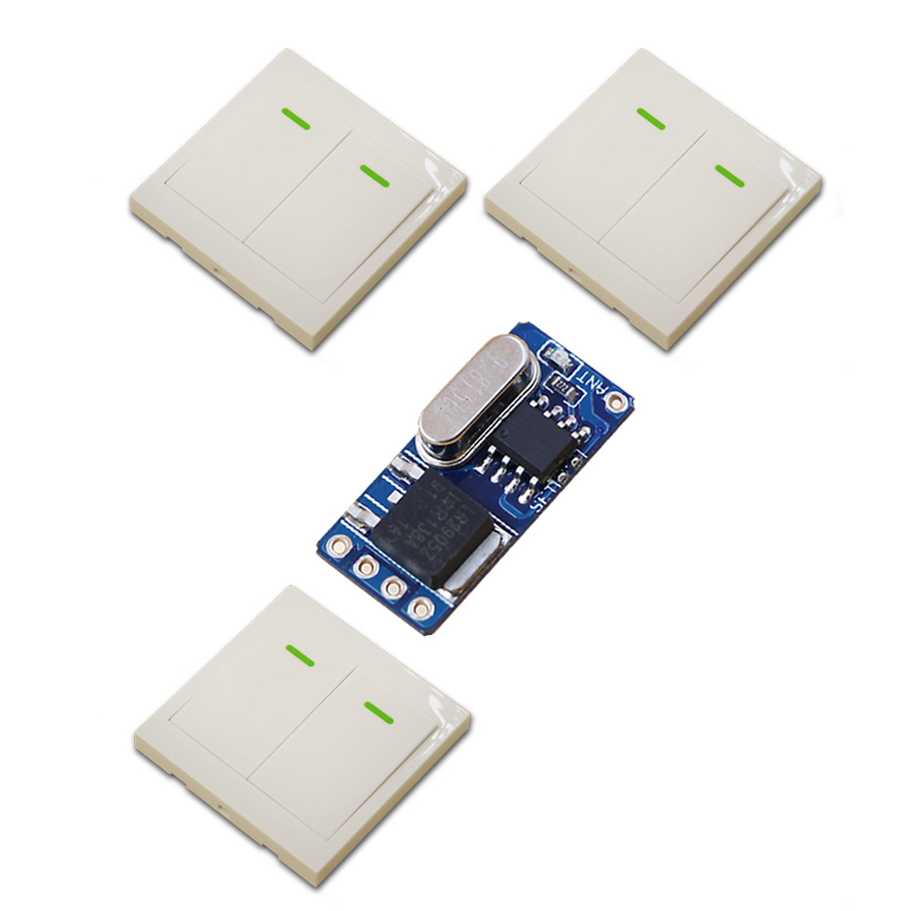New DC3.7V 4.5V 5V 6V 9V 12V Mini Receiver Micro Ultrathin Remote Control Switch +3 Transmitter Learning Code for Smart Home