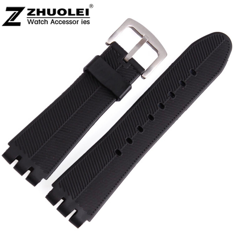 for swatch rubber band 23mm New High Quality Mens Black Soft Waterproof Diving Silicone Rubber Watchband Straps For Brand 28mm new high quality red waterproof diving silicone rubber watch bands straps