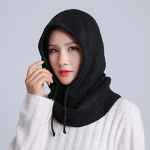 Girls Winter wool Knitted Hat Beanie Women Scarf Skullies Beanies Winter Hats For Women Men Cap Solid Bonnet Mask Brand Hat