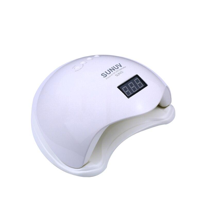 SUN5 48 Вт УФ светодио дный Авто Сенсор лампы для ногтей Сушилка для ногтей Гель-лак отверждения свет с нижней 30 s/60 s таймер ЖК-дисплей дисплей б...