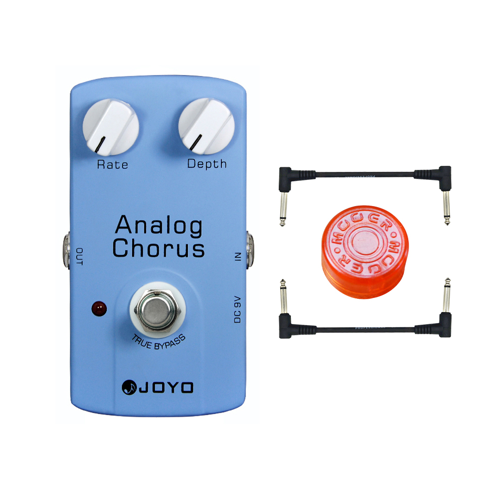 JOYO JF-37 Analog Chorus Guitar Audio Effect Pedal with True Bypass free shipping free 2 cable joyo ironman at drive overdrive electric guitar effect pedal true bypass jf 305 with free 3m cable