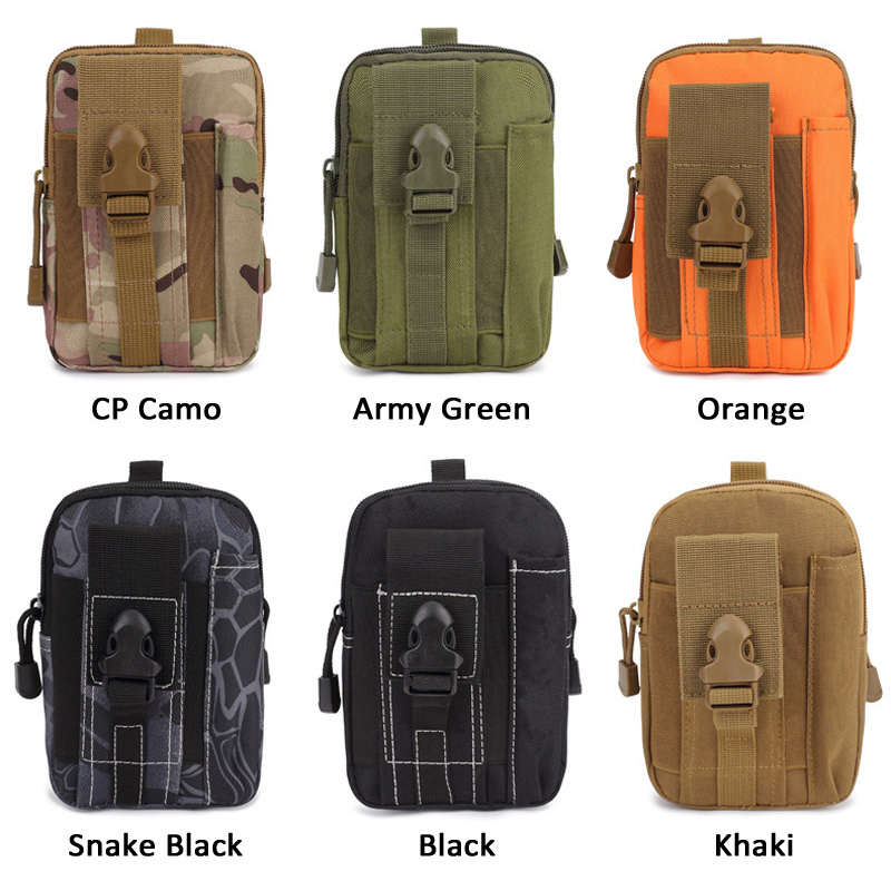 1 Piece Oxford Multi-pocket Fishing Lure Bait Tool Waist Bag Outdoor Camping Military Molle Tactical Bag 5.7 inch Phone Pouch