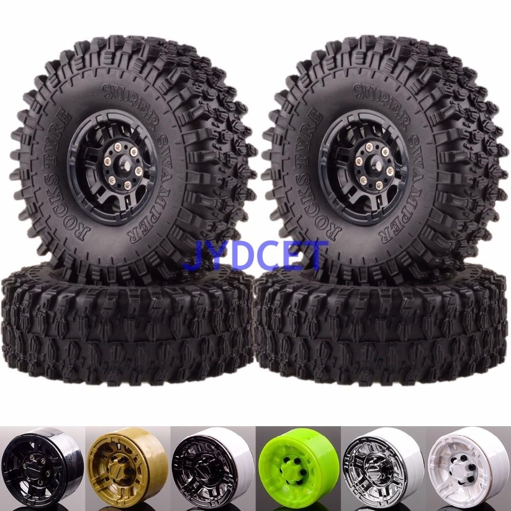 617-7037 roche chenille Beadlock jantes 120mm Super Swamper pneu pour 1/10 RC tout-terrain CC01 D90 SCX10 HSP Himoto Redcat Racing