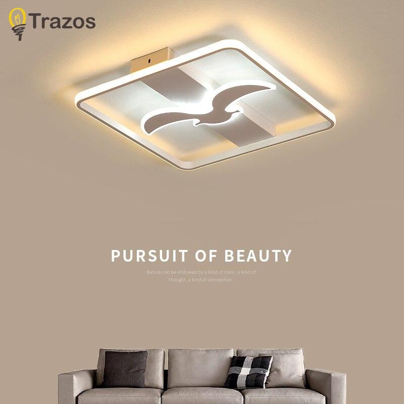 Modern White /Black Finish Living Room Bedroom Study Room Led Ceiling Lights lampara de techo Modern led Ceiling Lamp Fixtures все цены
