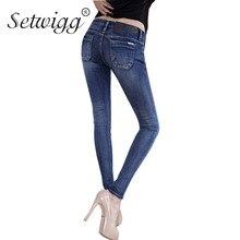 Setwigg женские весенние пикантные тощий хлопок зауженные джинсы синий/серый тонкие джинсовые узкие Fit Джинсы для женщин женские длинные Брюки для девочек SG253