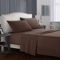 Jogo de cama cor pura  lençol plano + fronha  queen/king size  cinza macio conjunto de cama branca confortável