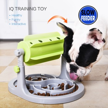 Food Treated Dog Toys Food Feeder Educational Dog Puzzle Toys  Interactive IQ Training Game Toy Anti Choke Slower Feeder  Bowl 1