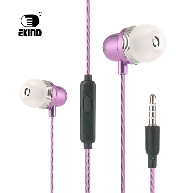 EKIND Wired Earbuds Music Headset Noise Cancelling Stereo In-Ear Wired Earphone with Mic Microphone
