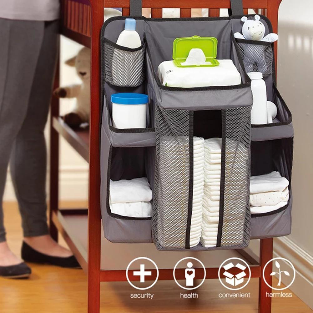 Bedside Hanging Bag Nursery Organizer Storage Bags Package Hanging Diaper Bag Dropshipping