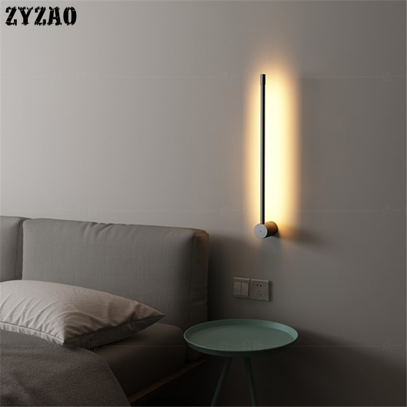 Minimal Personality Creative Metal Wall Lamp Nordic Modern Corridor Background Wall Light Living Room Decor Bedroom Bedside Lamp