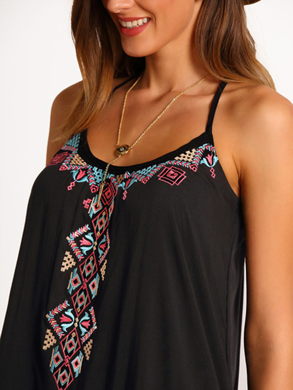 Vintage Boho Sexy Women Summer Casual Printed Dress Fashion Sleeveless Ikeacasa, Free Shipping